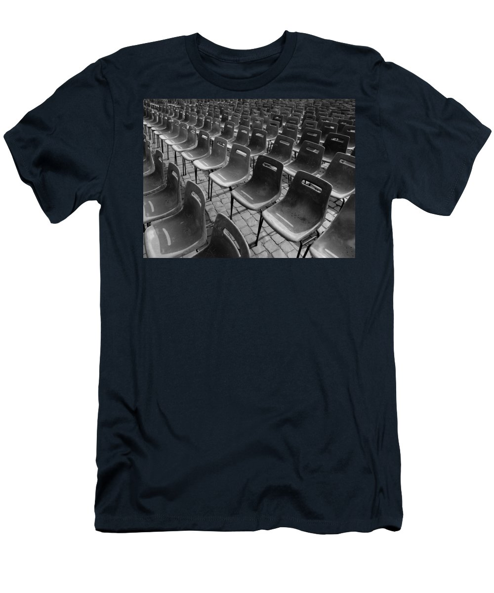 Chair Men's T-Shirt (Athletic Fit) featuring the photograph Chairs by Keith Levit