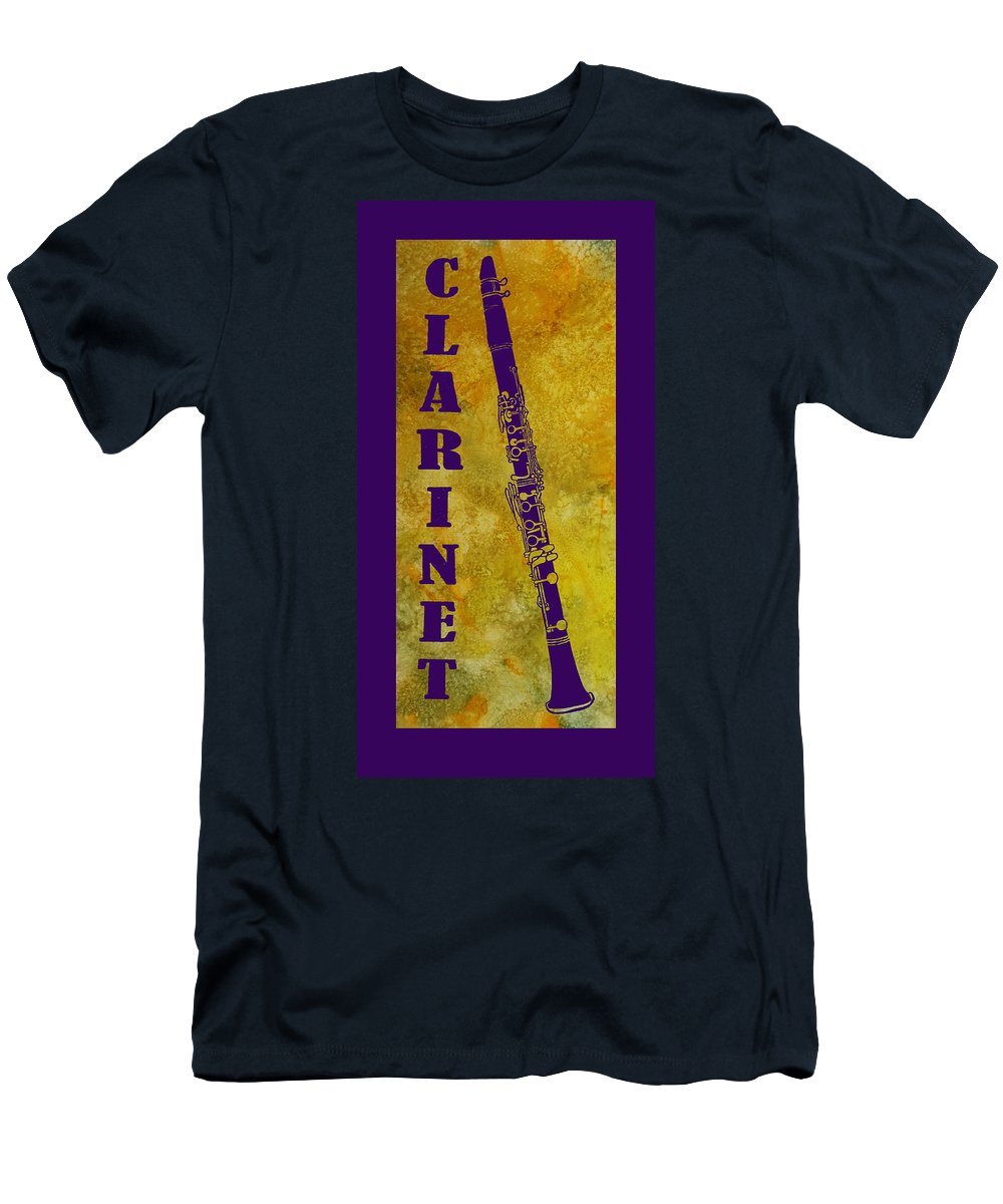 Clarinet Men's T-Shirt (Athletic Fit) featuring the digital art Clarinet by Jenny Armitage
