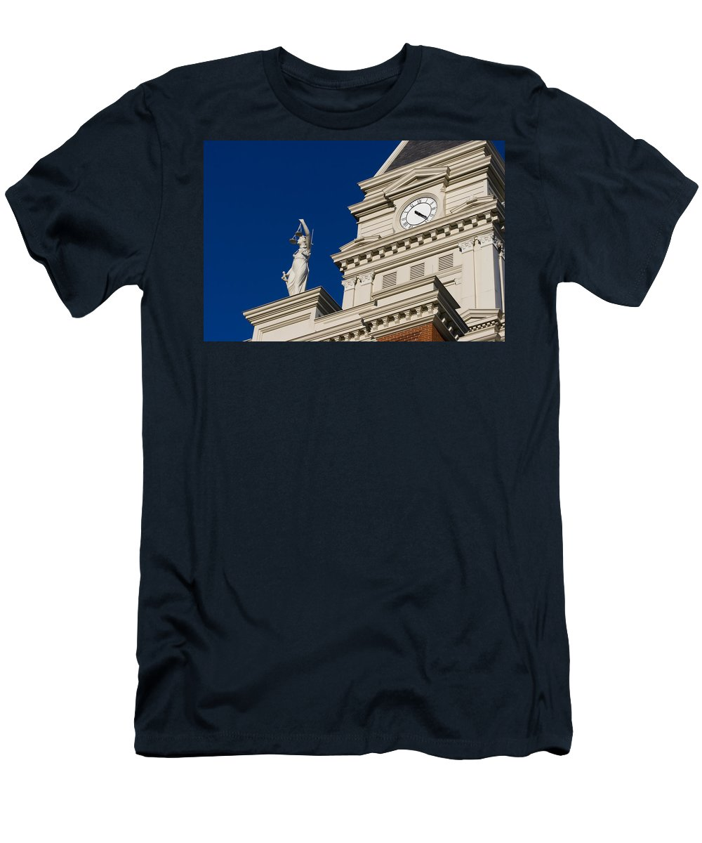 Architecture Men's T-Shirt (Athletic Fit) featuring the photograph Clarksville Historic Courthouse by Ed Gleichman