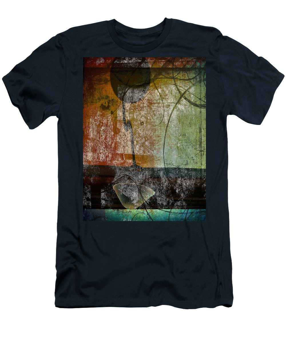 Abstract Men's T-Shirt (Athletic Fit) featuring the photograph Conversation Decline by The Artist Project