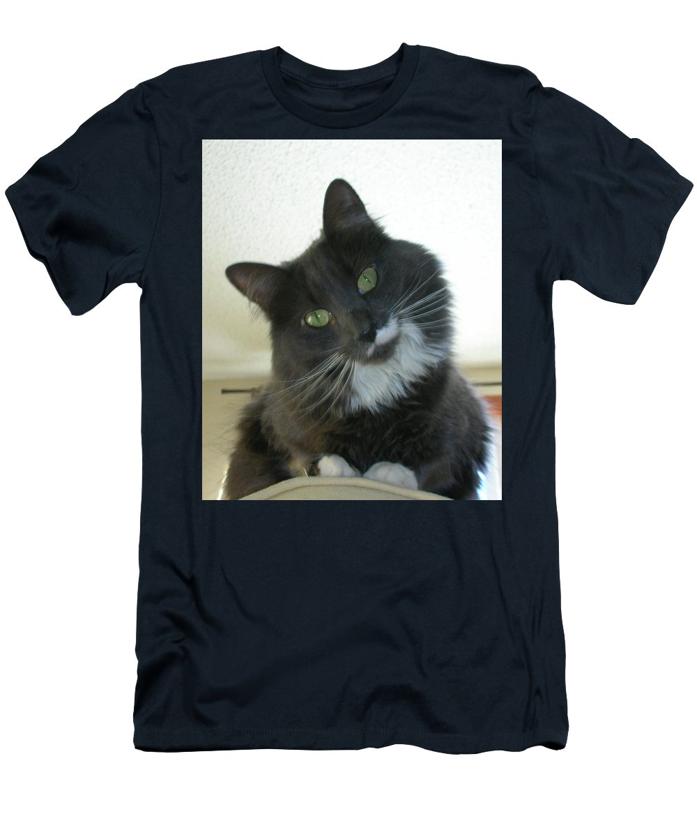 Cat Men's T-Shirt (Athletic Fit) featuring the photograph Corky 0124 by Guy Whiteley