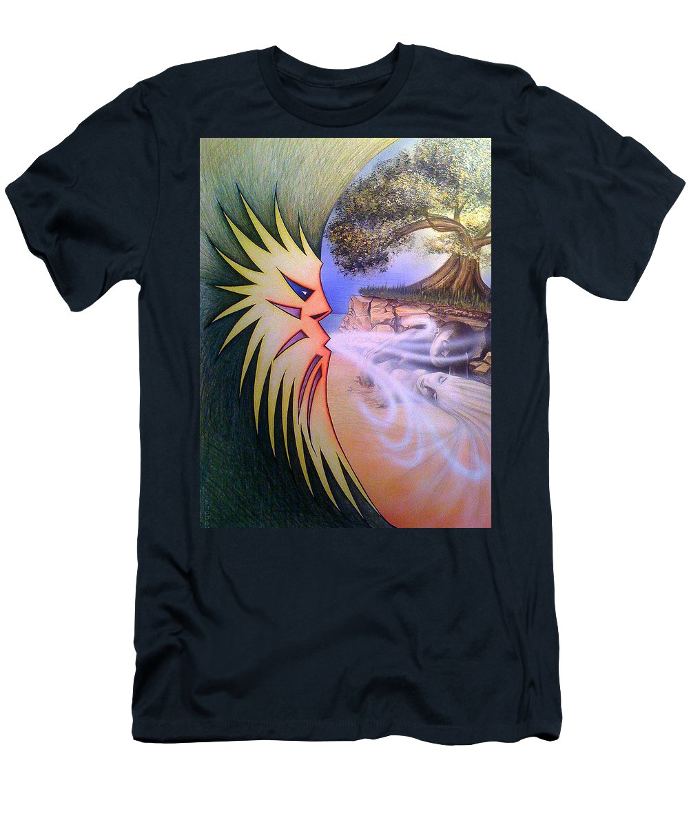 Creation Men's T-Shirt (Athletic Fit) featuring the drawing Creation by Shaun McNicholas