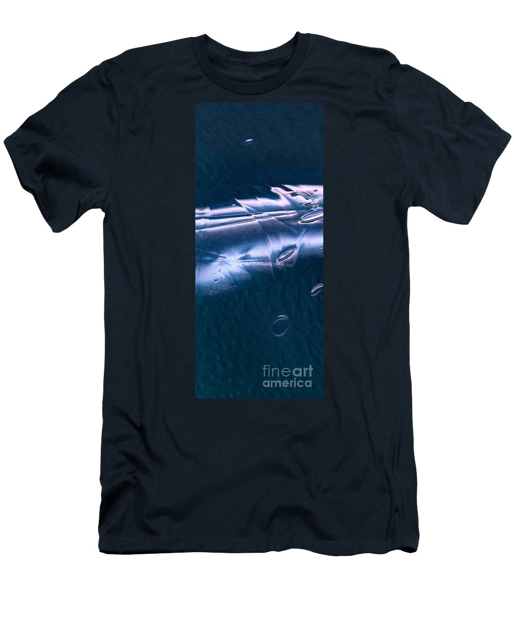Crystalline Entity Men's T-Shirt (Athletic Fit) featuring the digital art Crystalline Entity Panel 1 by Peter Piatt