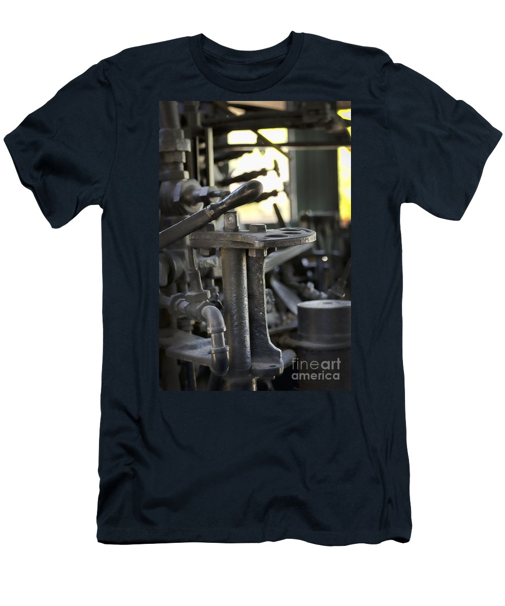 Travel Men's T-Shirt (Athletic Fit) featuring the photograph Drive The Train by Donna Greene