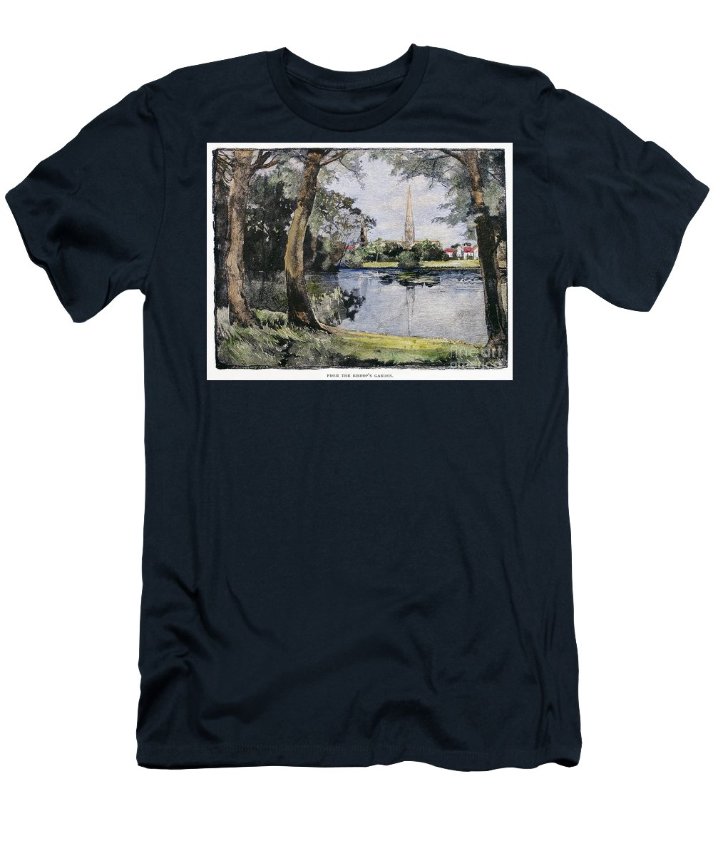 1888 Men's T-Shirt (Athletic Fit) featuring the photograph England: Salisbury by Granger
