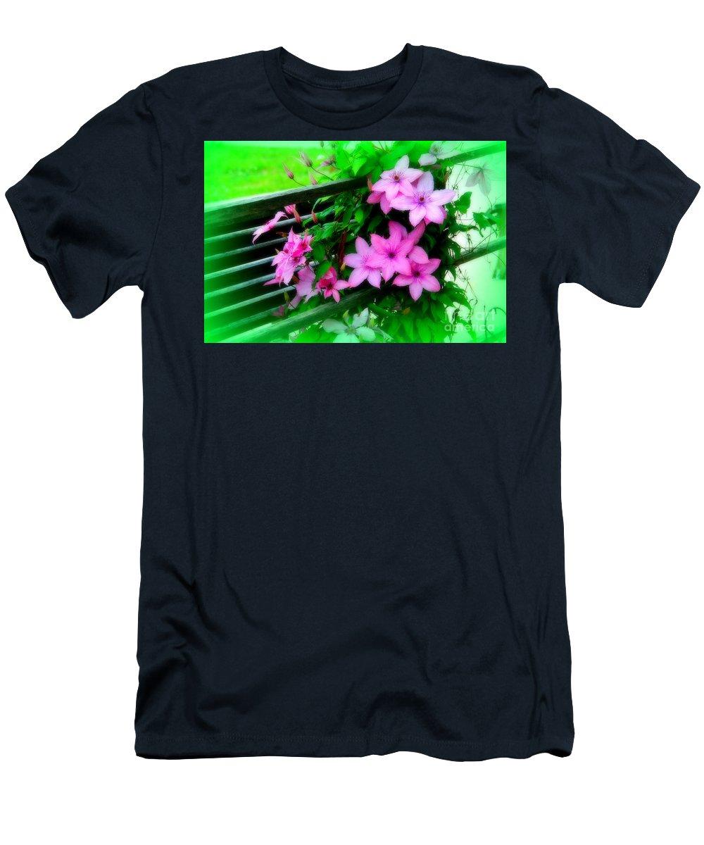 Flower Men's T-Shirt (Athletic Fit) featuring the photograph Flower Bouquets by Susanne Van Hulst