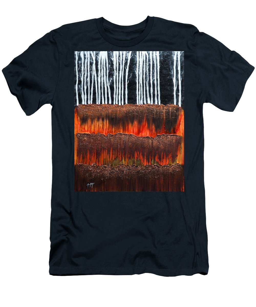 Art Men's T-Shirt (Athletic Fit) featuring the painting Forest 3 by Mauro Celotti