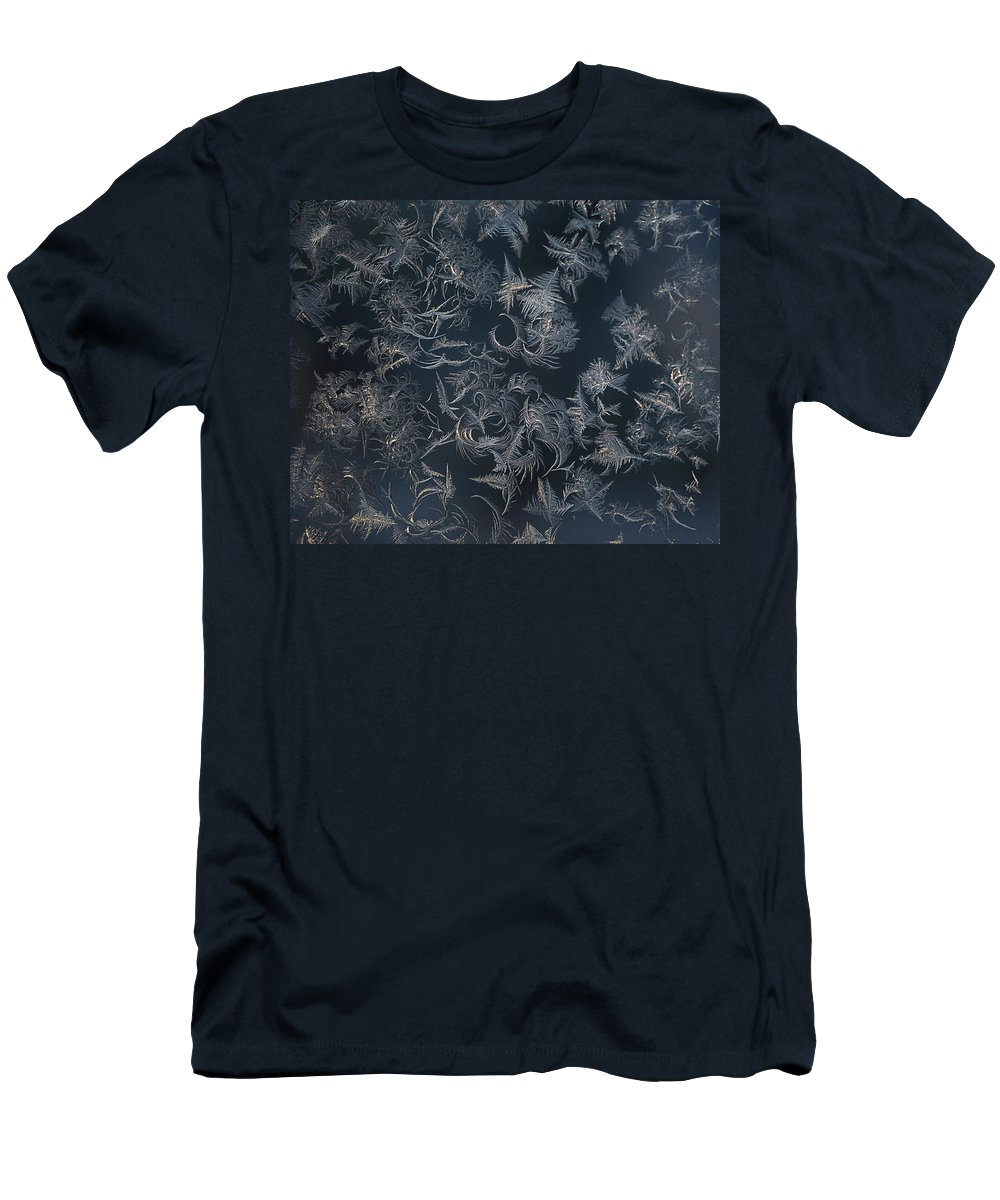 Abstract Men's T-Shirt (Athletic Fit) featuring the photograph Frost Ferns by Susan Capuano