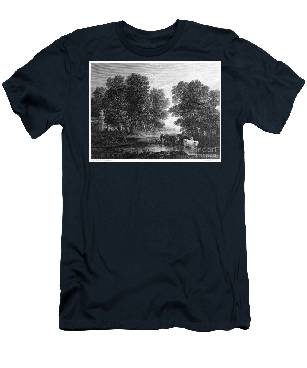 18th Century Men's T-Shirt (Athletic Fit) featuring the photograph Gainsborough: Scenic View by Granger