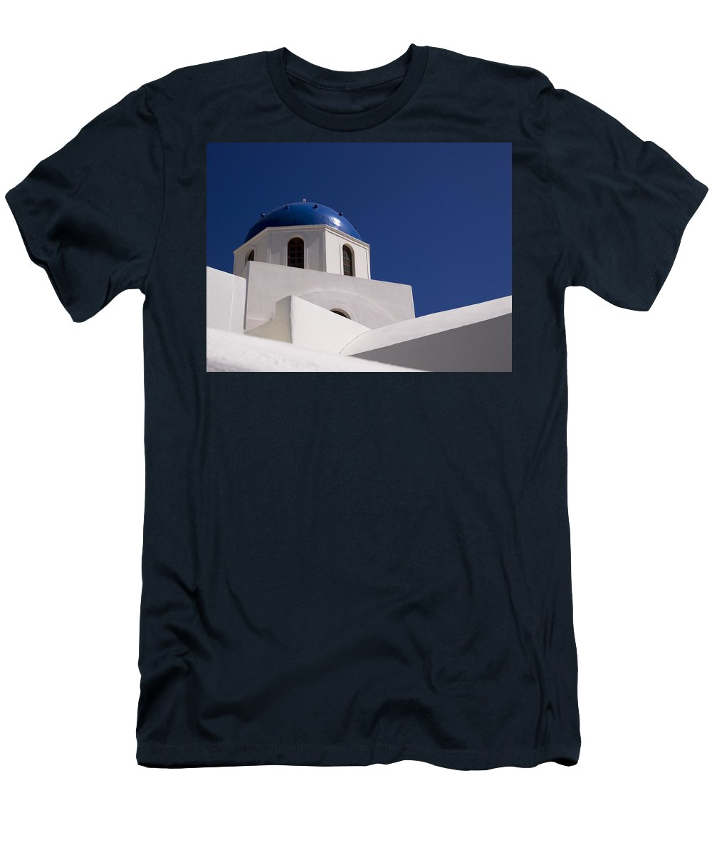 Architectural Detail Men's T-Shirt (Athletic Fit) featuring the photograph Greek Architecture, Santorini, Greece by Keith Levit