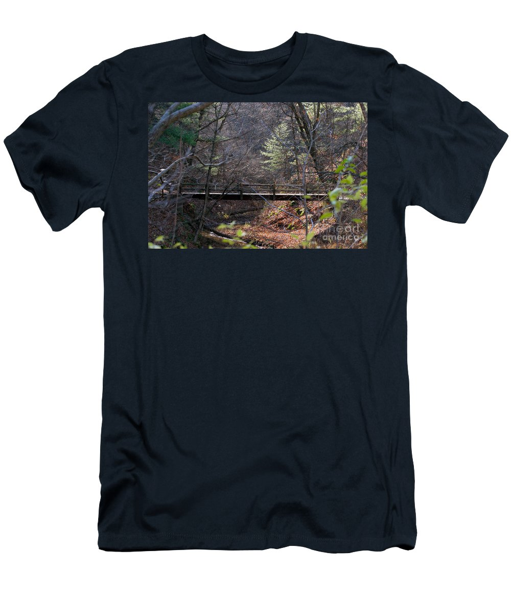 Art Men's T-Shirt (Athletic Fit) featuring the photograph Hikers Shortcut by Alan Look