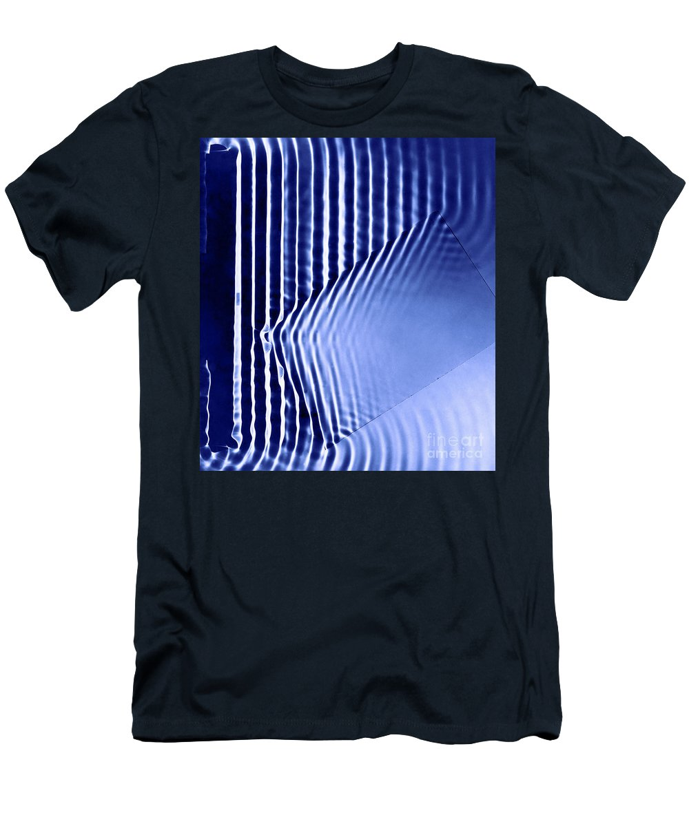Frequency Men's T-Shirt (Athletic Fit) featuring the photograph Interference Waves by Berenice Abbott