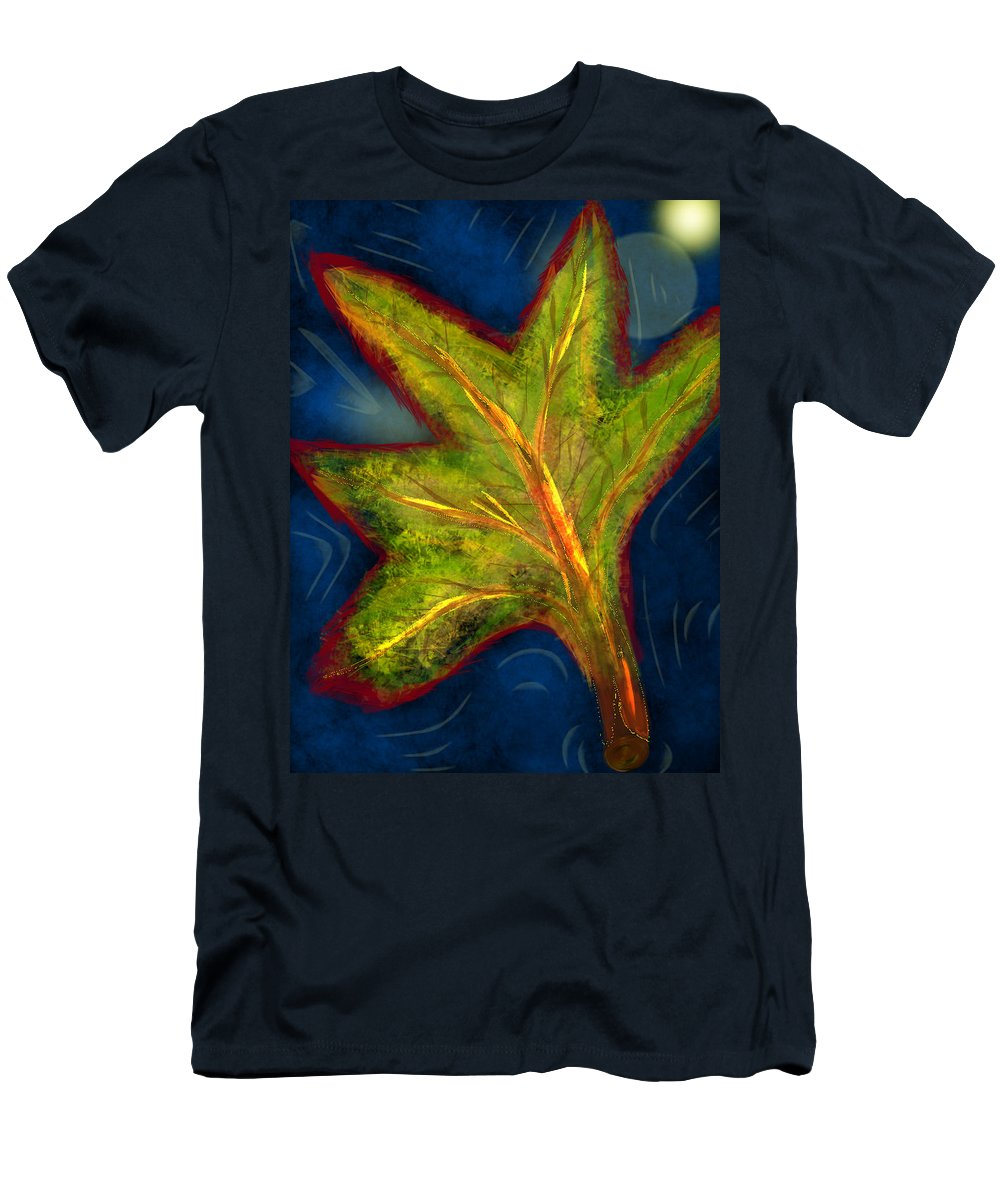 Men's T-Shirt (Athletic Fit) featuring the digital art Leaf by Mathieu Lalonde