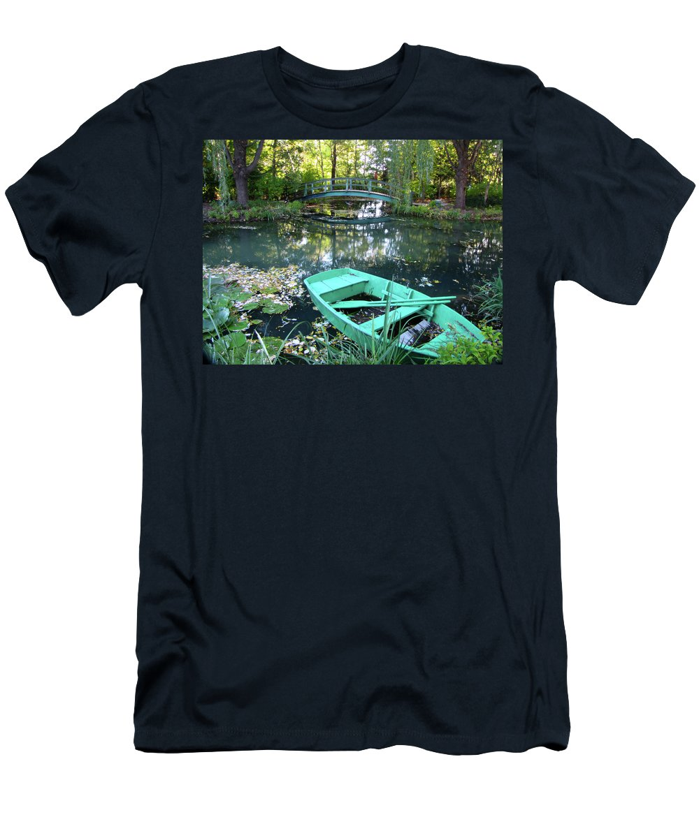 Lily Pond Men's T-Shirt (Athletic Fit) featuring the photograph Lily Pond by Denise Keegan Frawley