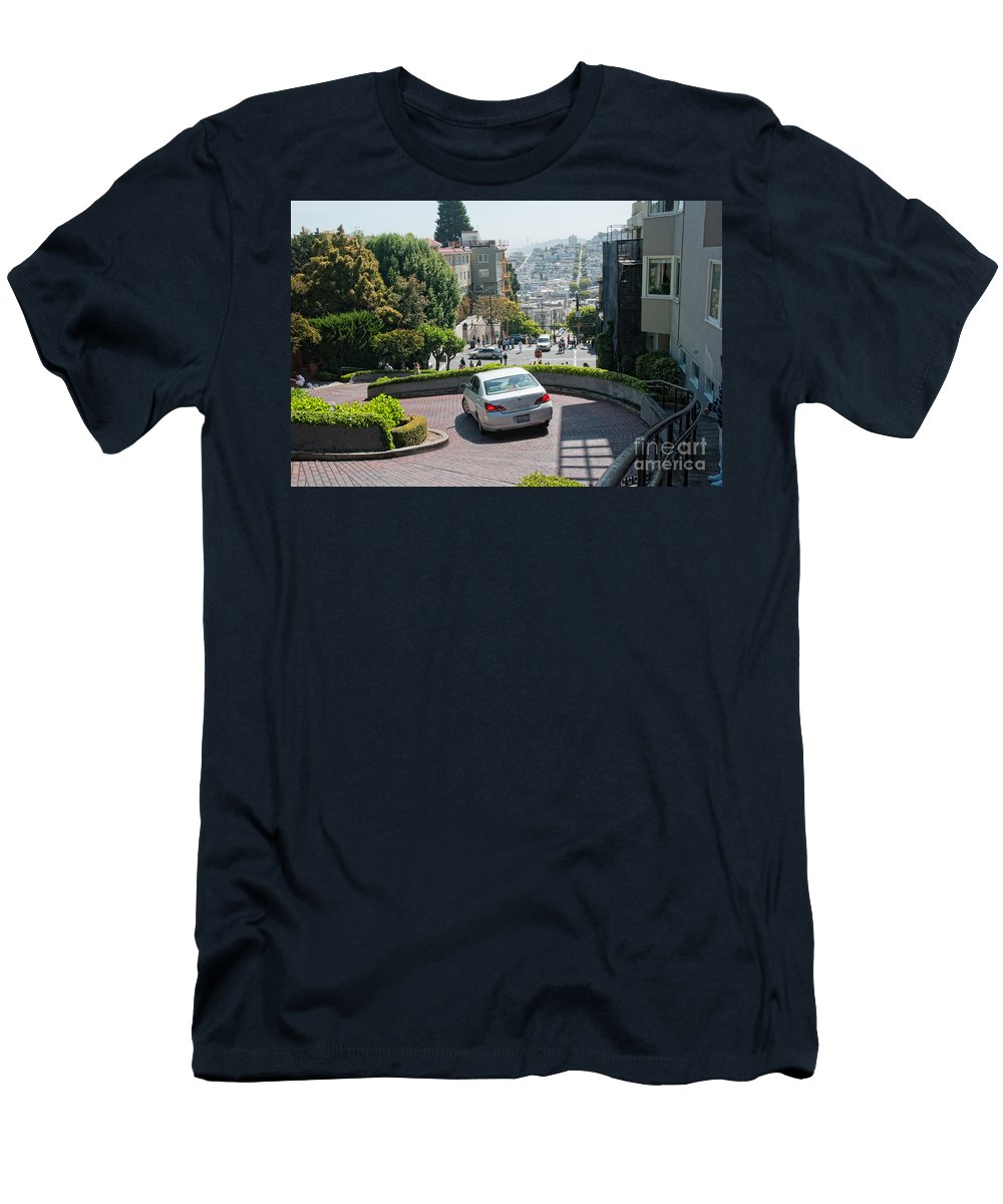 Cityview Men's T-Shirt (Athletic Fit) featuring the digital art Lombard Street San Francisco by Carol Ailles