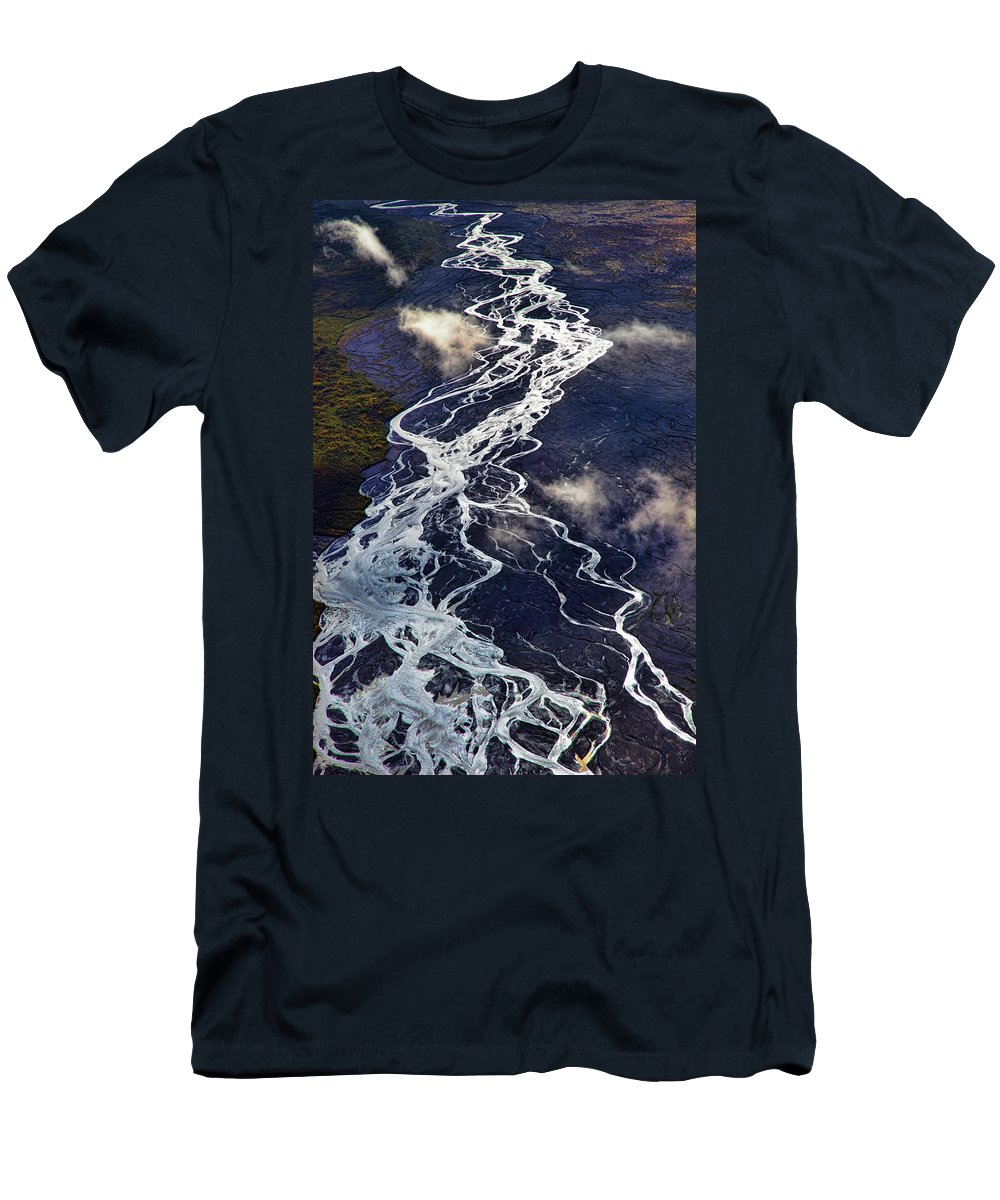 Denali National Park Men's T-Shirt (Athletic Fit) featuring the photograph Mckinley Quicksilver by Rick Berk