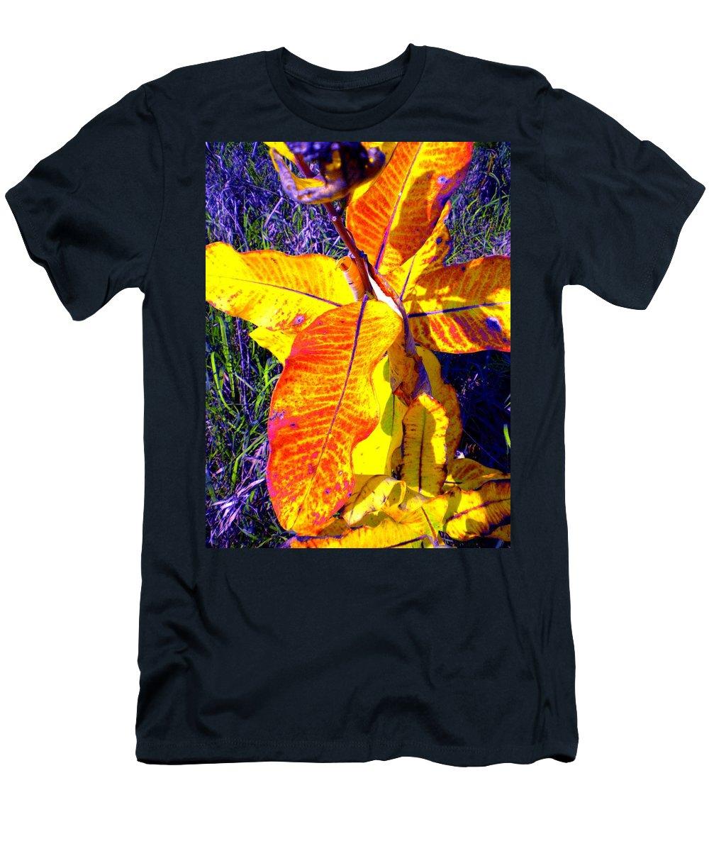 Milkweed Men's T-Shirt (Athletic Fit) featuring the photograph Milkweed by Renate Nadi Wesley