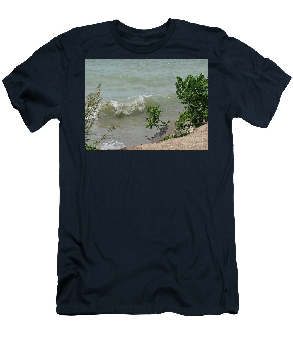 Lake Men's T-Shirt (Athletic Fit) featuring the photograph Pelee Shore by Ann Horn