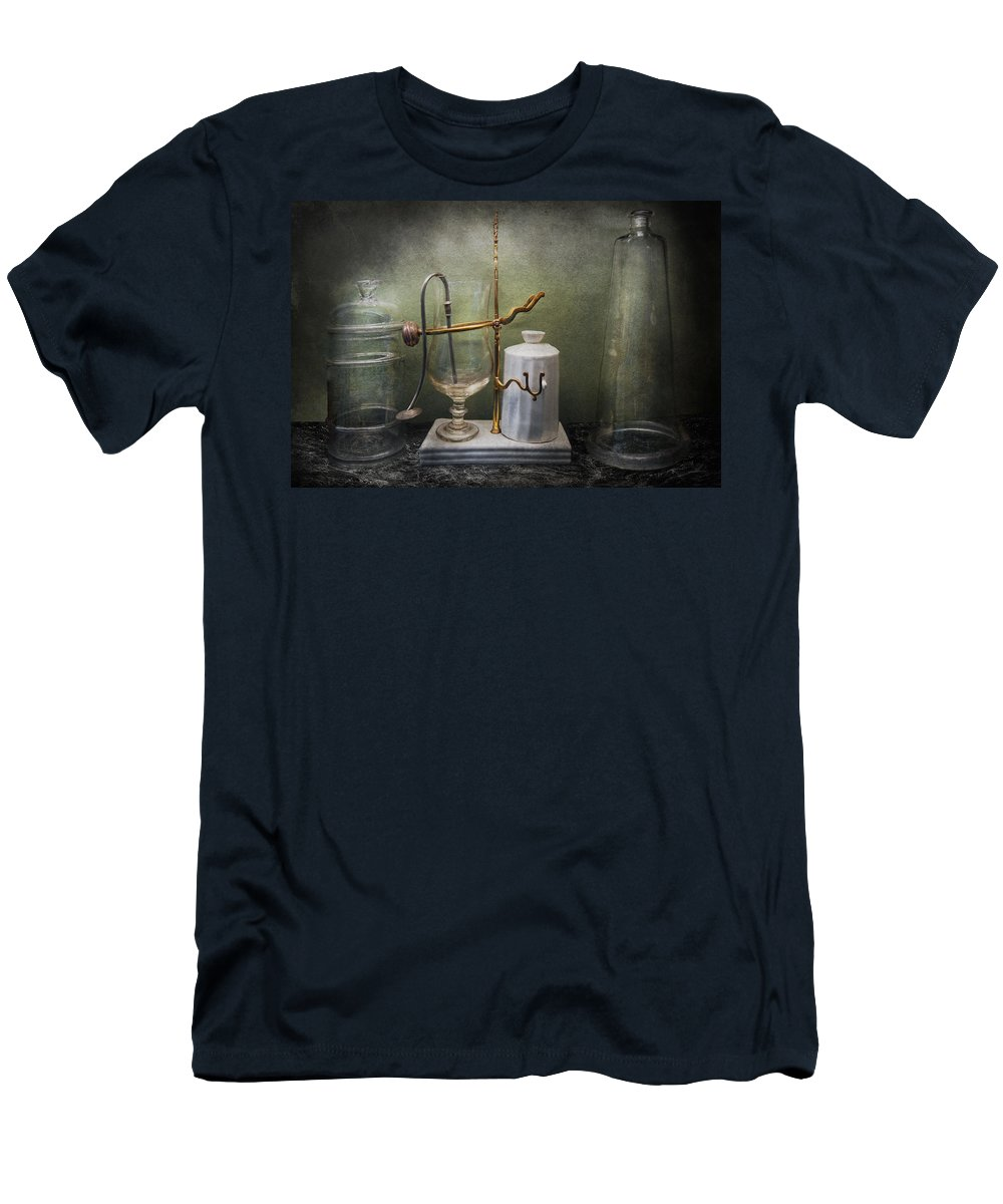 Apparatus Men's T-Shirt (Athletic Fit) featuring the photograph Pharmacy - Victorian Apparatus by Mike Savad