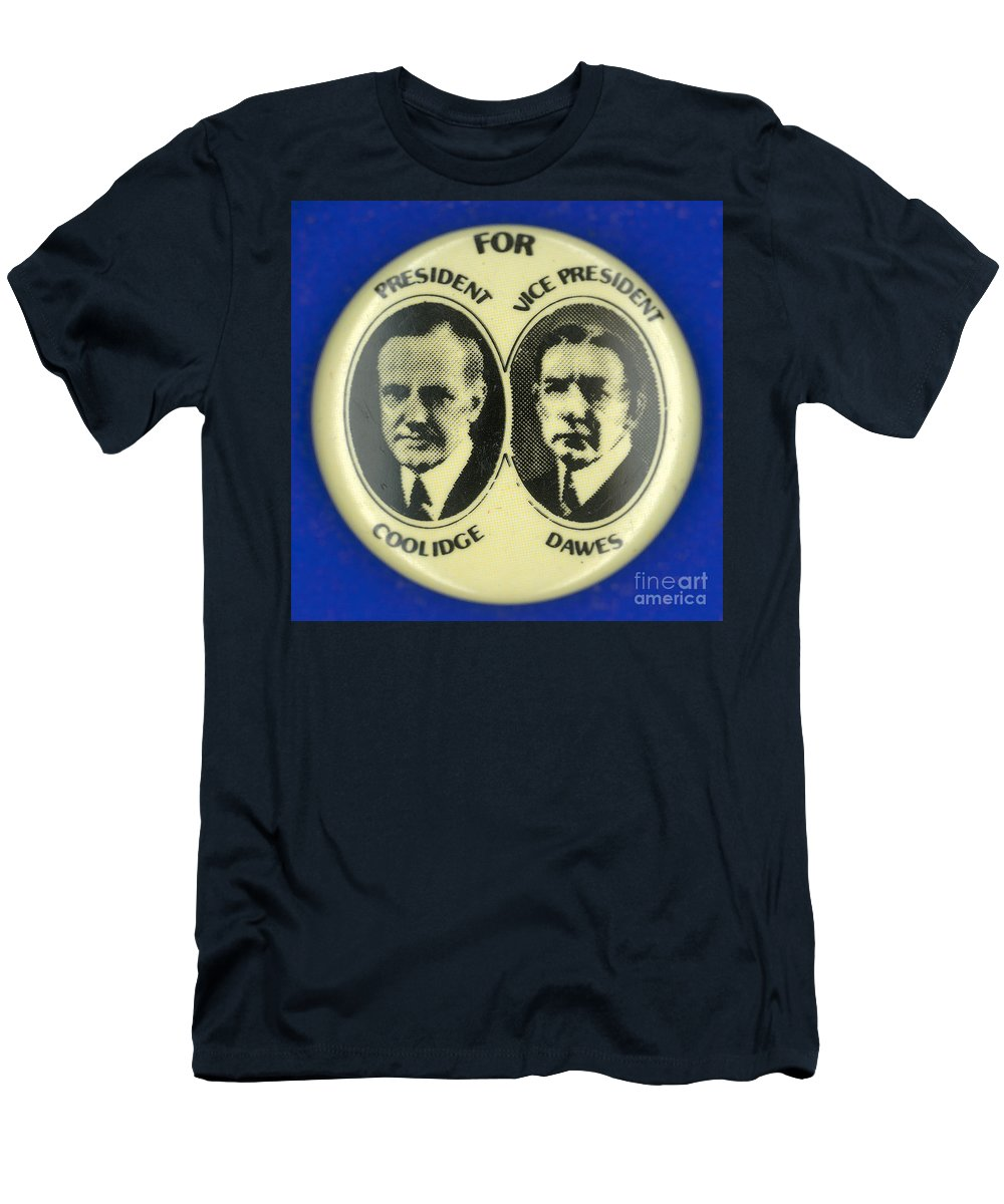 1924 Men's T-Shirt (Athletic Fit) featuring the photograph Presidential Campaign, 1924 by Granger