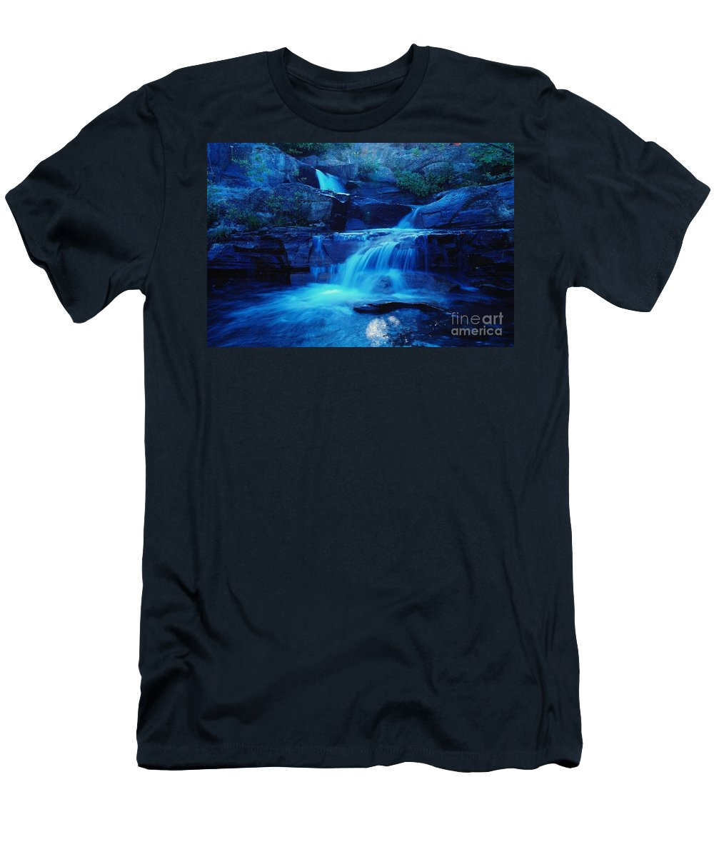 Water Men's T-Shirt (Athletic Fit) featuring the photograph Quaint Falls by Jeff Swan