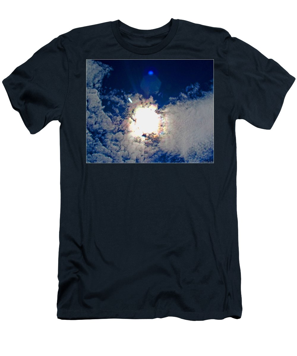 Nature Men's T-Shirt (Athletic Fit) featuring the photograph Rainbow Round The Sun II by Debbie Portwood