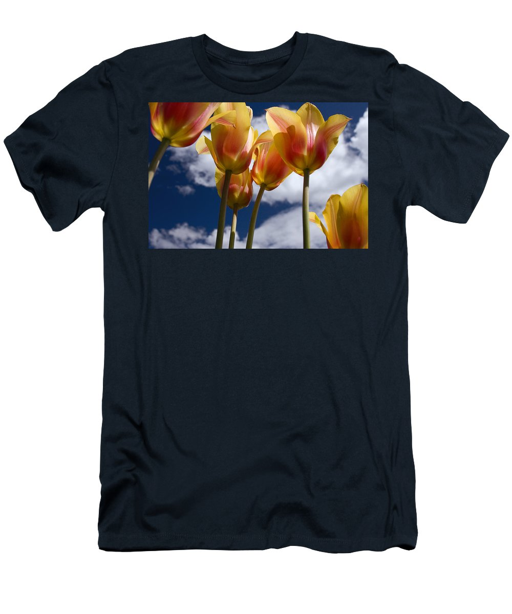 Reaching For The Clouds Men's T-Shirt (Athletic Fit) featuring the photograph Reaching For The Clouds by Wes and Dotty Weber