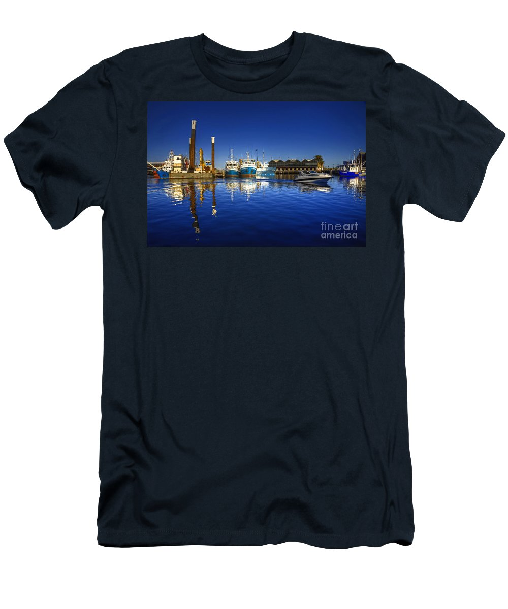 Freemantle Men's T-Shirt (Athletic Fit) featuring the photograph Reflections At Freemantle by Rob Hawkins