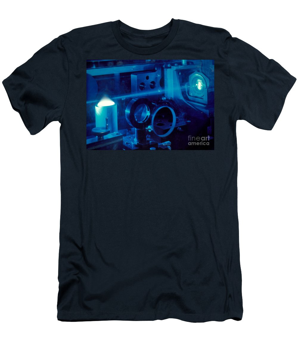 Combustion Research Men's T-Shirt (Athletic Fit) featuring the photograph Research Into The Combustion Of Fuels by U.S. Department of Energy