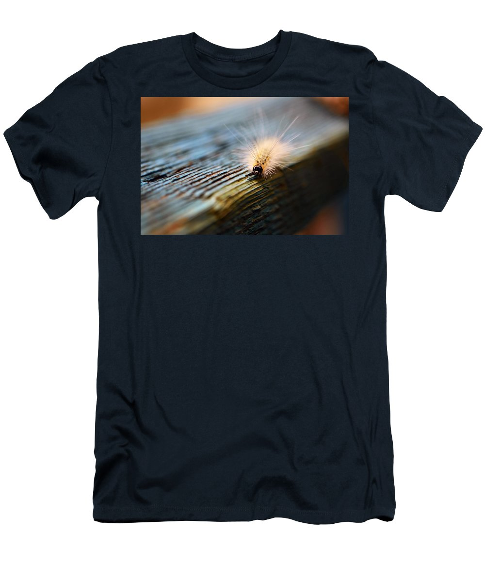 Caterpillar Men's T-Shirt (Athletic Fit) featuring the photograph Something Wicked This Way Comes by Lori Tambakis