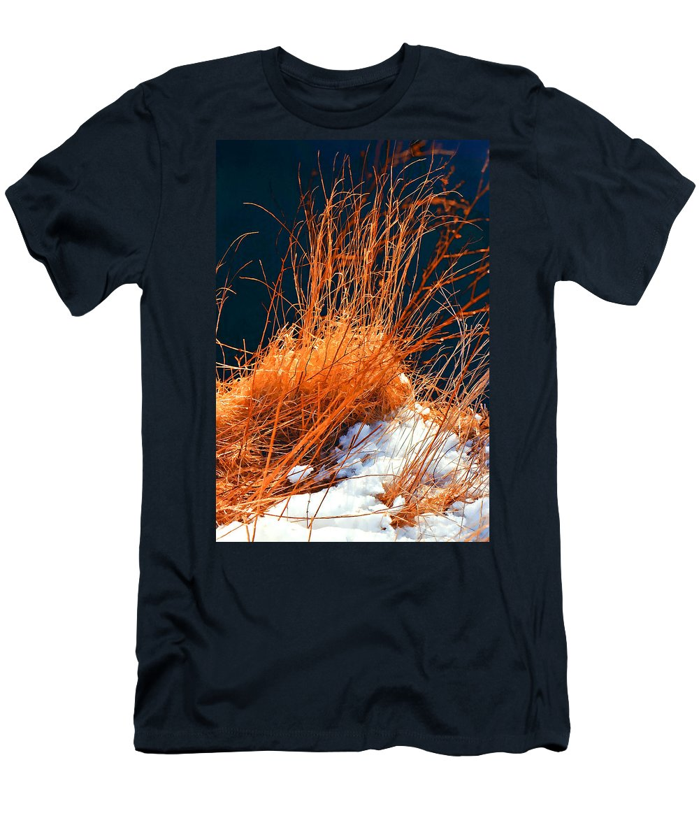 Snow Men's T-Shirt (Athletic Fit) featuring the photograph Soon The Spring by Steve Harrington