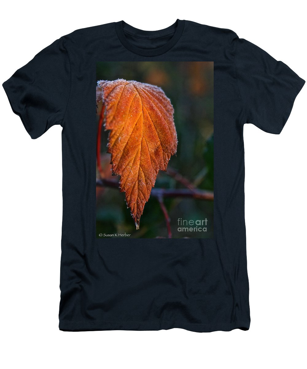 Outdoors Men's T-Shirt (Athletic Fit) featuring the photograph Sprinkled Frost by Susan Herber