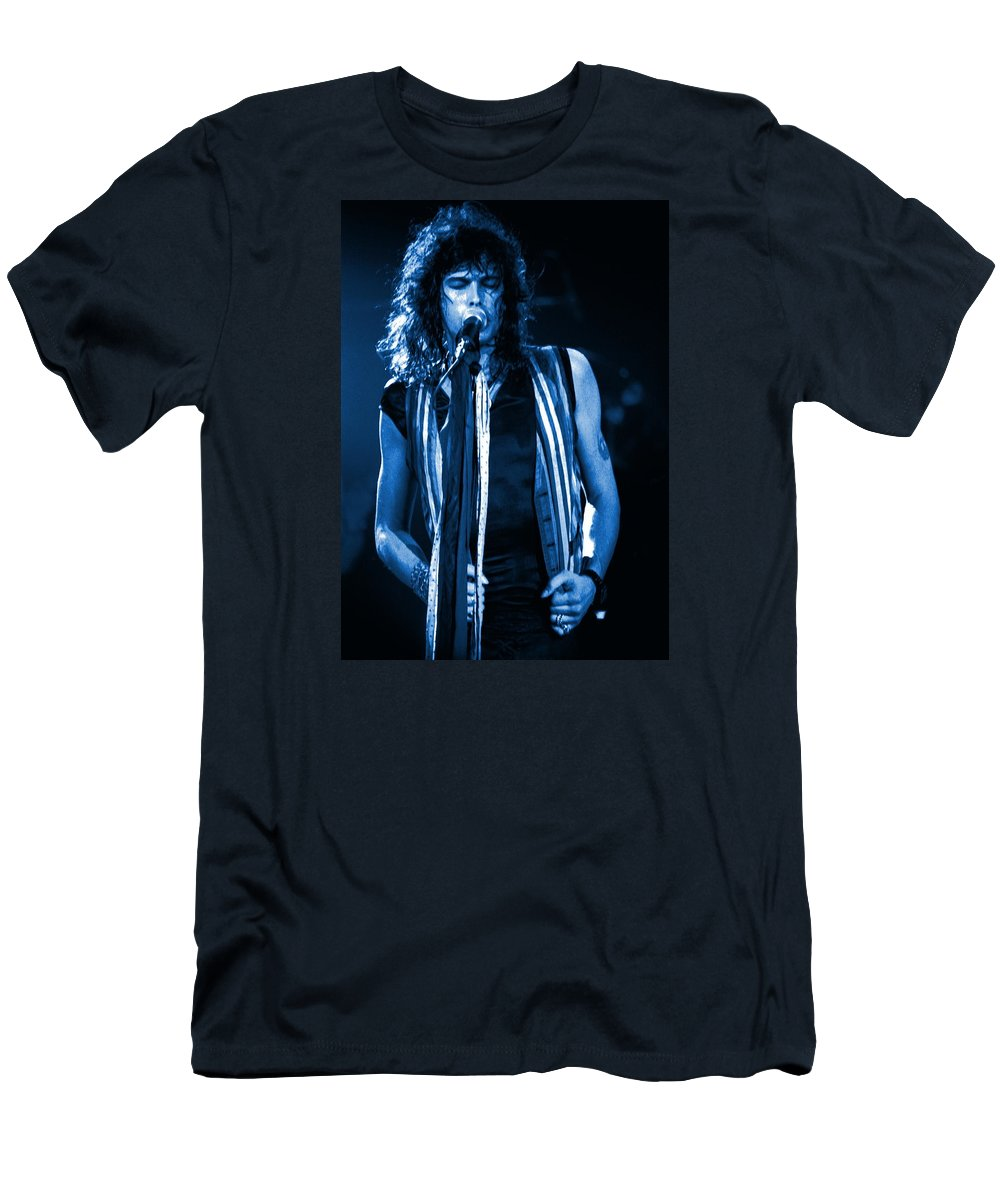 Aerosmith Men's T-Shirt (Athletic Fit) featuring the photograph Steven In Spokane 17a by Ben Upham