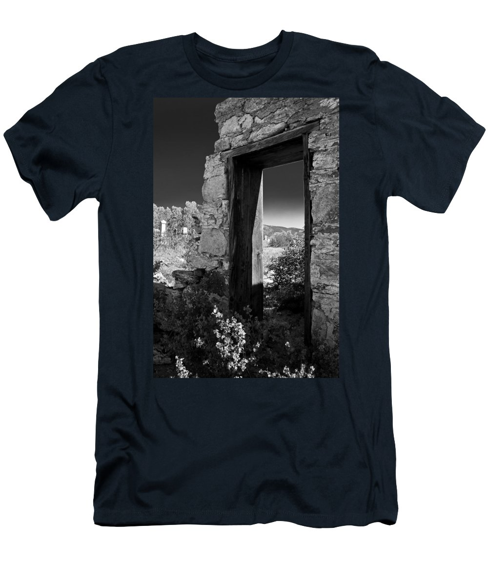 Cemetary Men's T-Shirt (Athletic Fit) featuring the photograph Still Standing by Colleen Coccia