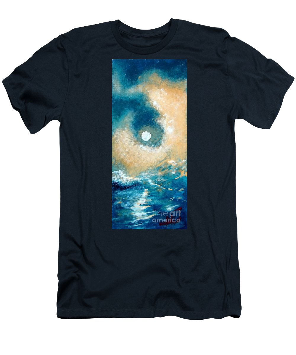 Nature Men's T-Shirt (Athletic Fit) featuring the painting Storm by Ana Maria Edulescu