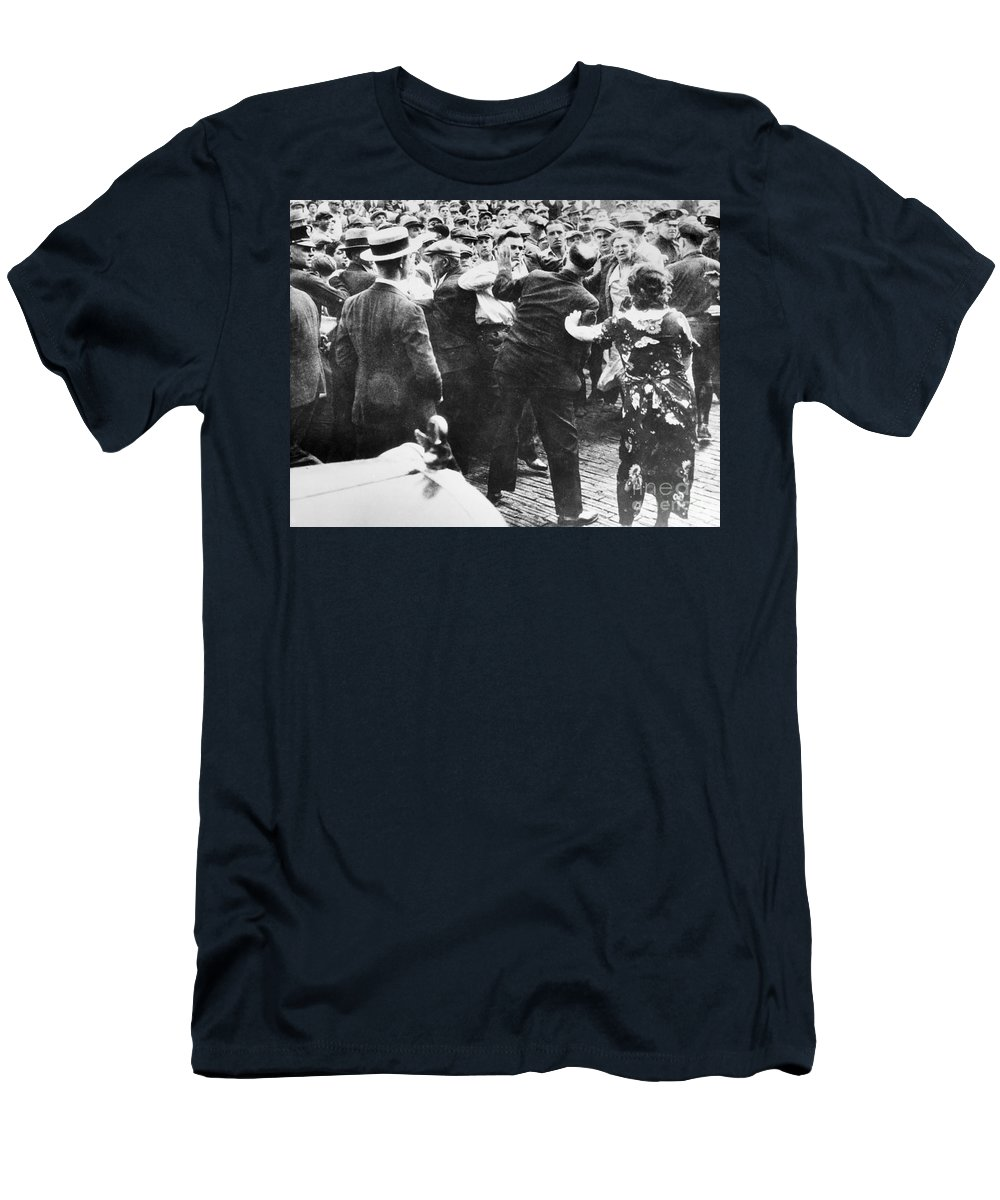 1930s Men's T-Shirt (Athletic Fit) featuring the photograph Strike: Toledo, Ohio, 1934 by Granger
