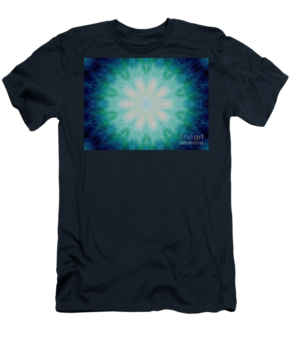 The Eye Of The Beholder Men's T-Shirt (Athletic Fit) featuring the painting The Eye Of The Beholder by Michael Grubb