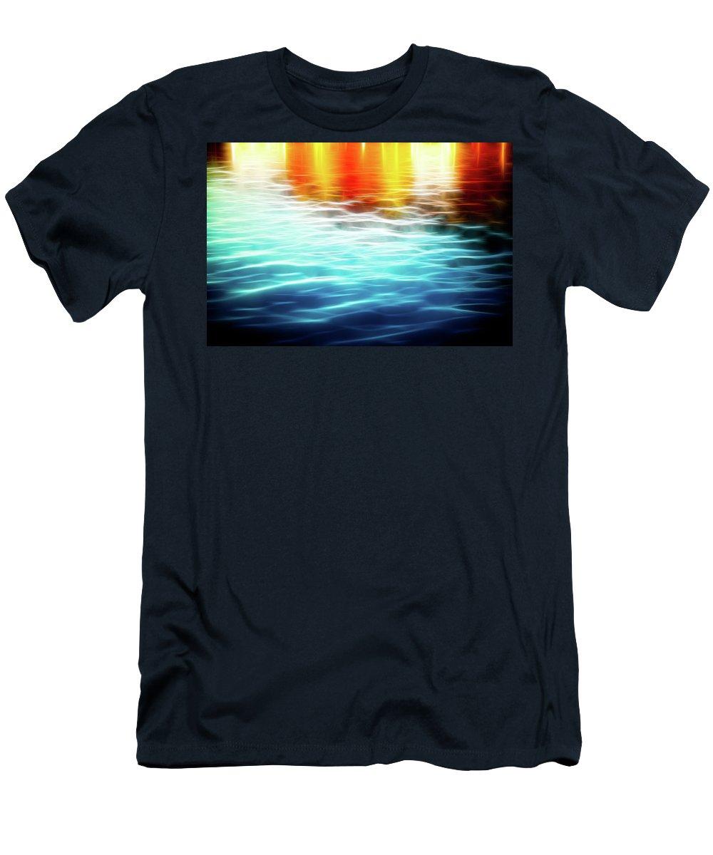 Art Men's T-Shirt (Athletic Fit) featuring the photograph The German Wharf by Hakon Soreide