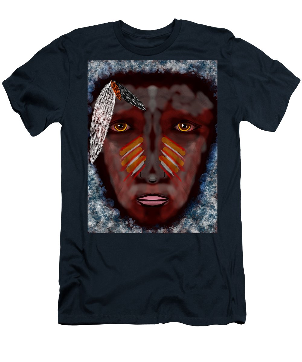 Dream Men's T-Shirt (Athletic Fit) featuring the digital art The Last Indian Dream by Mathieu Lalonde