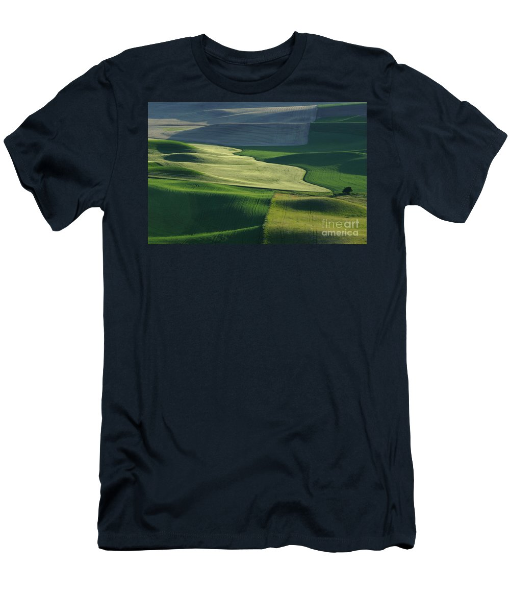 Palouse Men's T-Shirt (Athletic Fit) featuring the photograph The Palouse 4 by Bob Christopher
