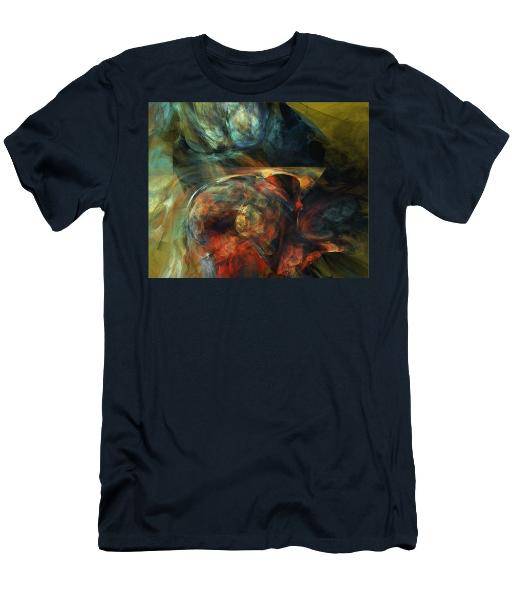 Fine Art Men's T-Shirt (Athletic Fit) featuring the digital art Tormented by David Lane