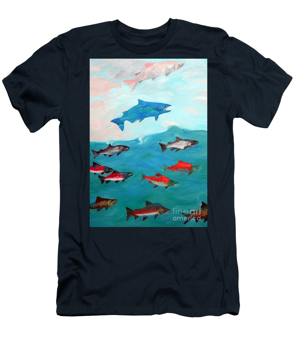Water Men's T-Shirt (Athletic Fit) featuring the painting Transformation by Lisa Baack
