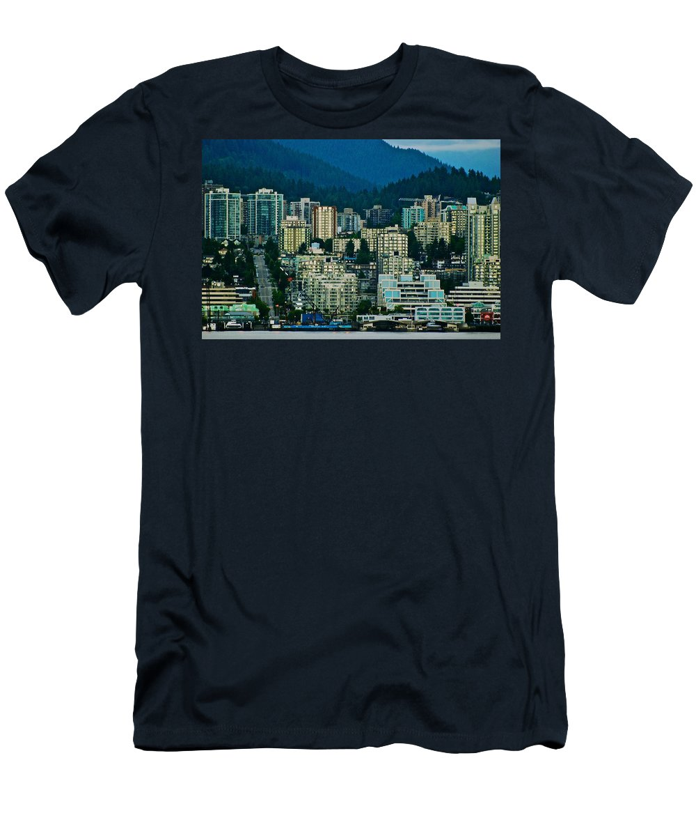 Vancouver Men's T-Shirt (Athletic Fit) featuring the photograph Vancouver Rooms With A View by Eric Tressler