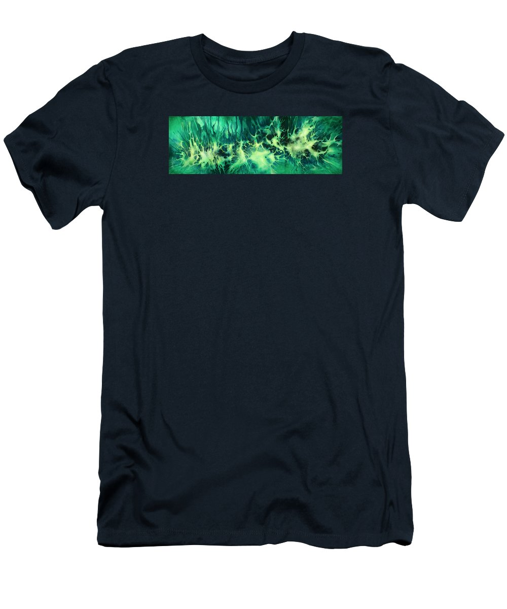 Abstract Men's T-Shirt (Athletic Fit) featuring the painting ' Garden Of Light ' by Michael Lang