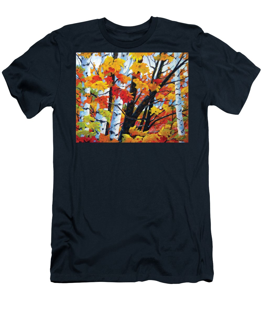Art Men's T-Shirt (Athletic Fit) featuring the painting A Touch Of Canada by Richard T Pranke