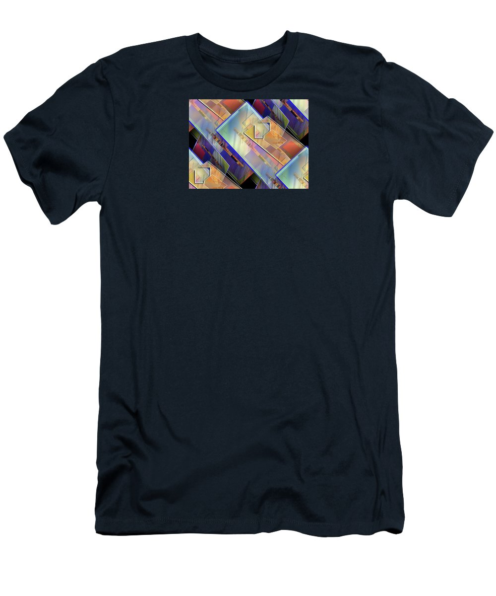 Abstract Men's T-Shirt (Athletic Fit) featuring the digital art Abstract 145 by Iris Gelbart