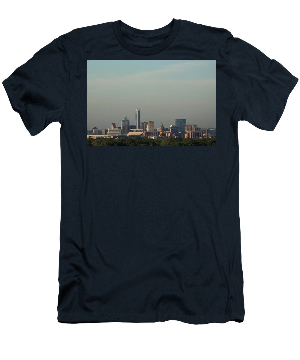 Austin Men's T-Shirt (Athletic Fit) featuring the photograph Austin Skyline by Frank Romeo