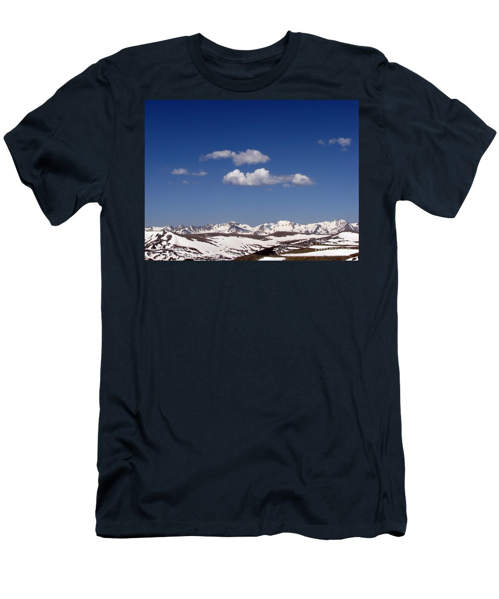 Mountains Men's T-Shirt (Athletic Fit) featuring the photograph Colorado by Amanda Barcon