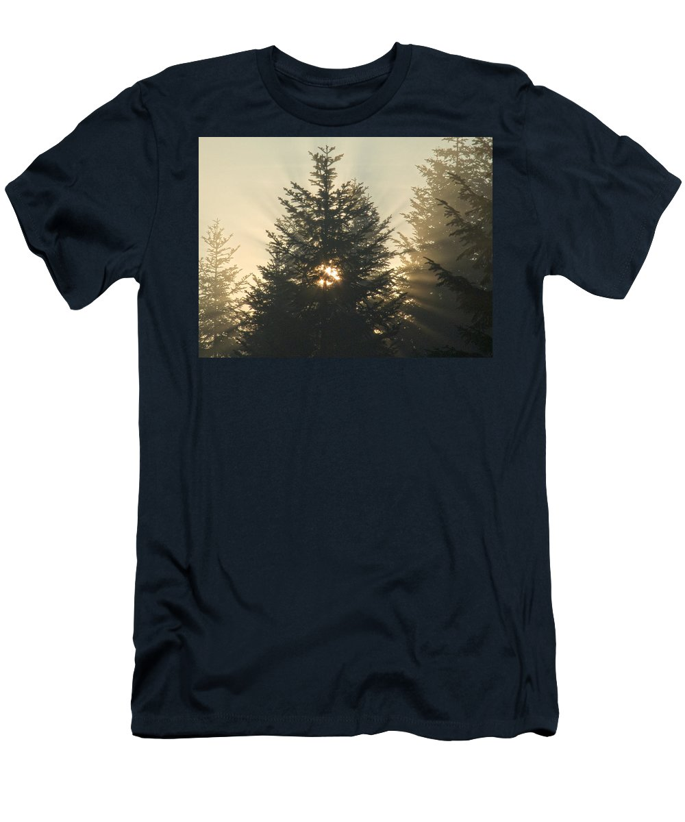 Nature Men's T-Shirt (Athletic Fit) featuring the photograph Dawn by Daniel Csoka