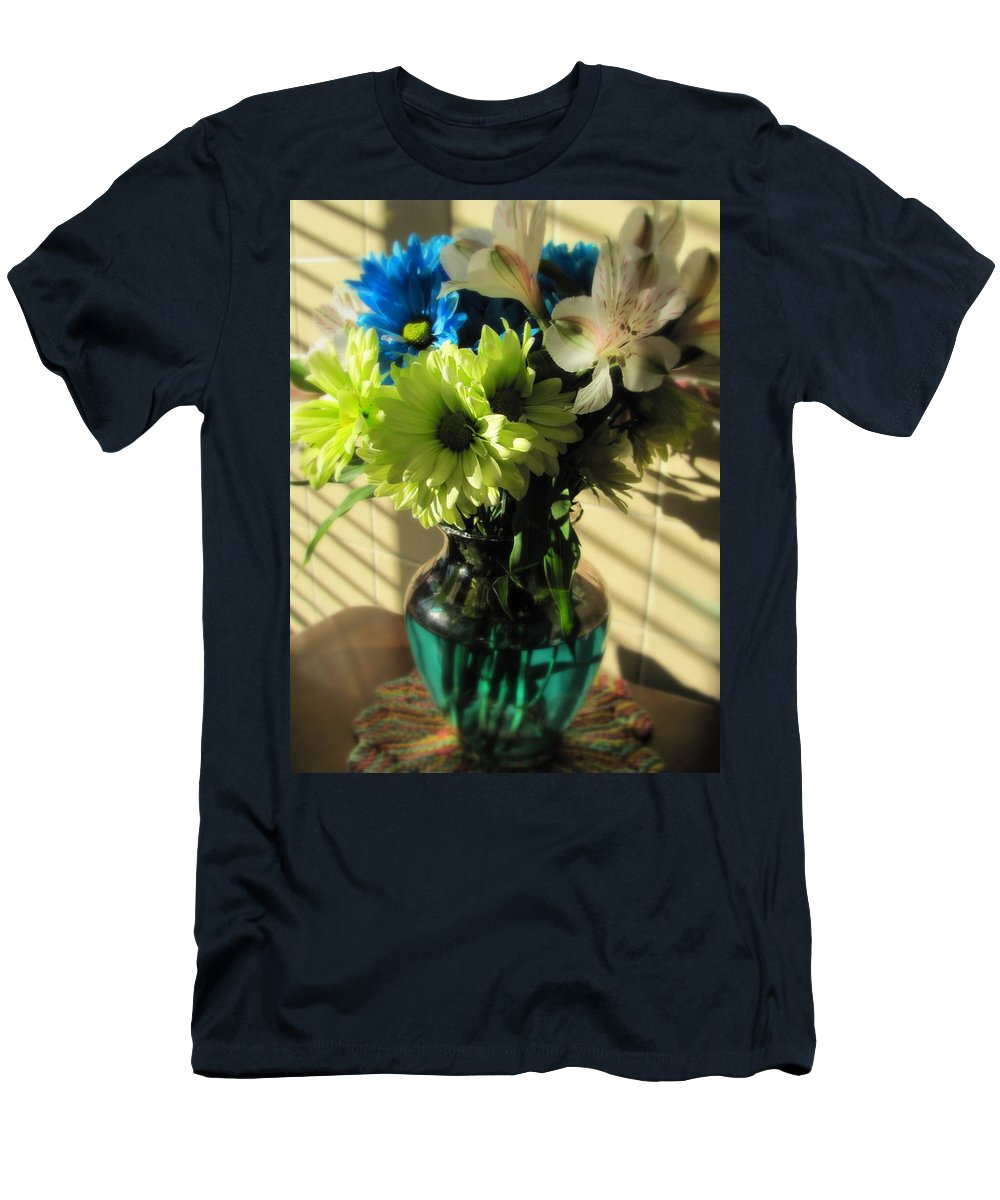 Flowers Men's T-Shirt (Athletic Fit) featuring the photograph Floral Bouquet 2 by Anita Burgermeister